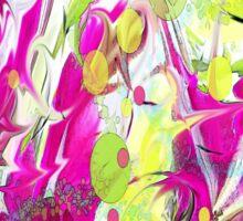 Pink Flower Explosion Sticker