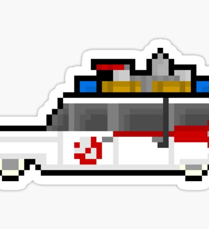Pixel Ecto-1 Ghostbusters Van Sticker
