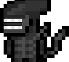 """Pixel """"Alien"""" sticker by PixelBlock"""