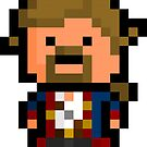 Pixel Guybrush Threepwood Sticker by PixelBlock