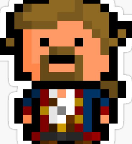Pixel Guybrush Threepwood Sticker Sticker
