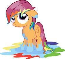 Scootaloo Wanna Be Rainbow Dash  by eeveemastermind