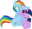 Rainbow And Twilight Playing by eeveemastermind