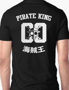"One Piece Monkey D. Luffy ""Pirate King"" Shirt White Version Unisex T-Shirt"