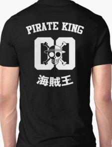 "One Piece Monkey D. Luffy ""Pirate King"" Shirt White Version T-Shirt"