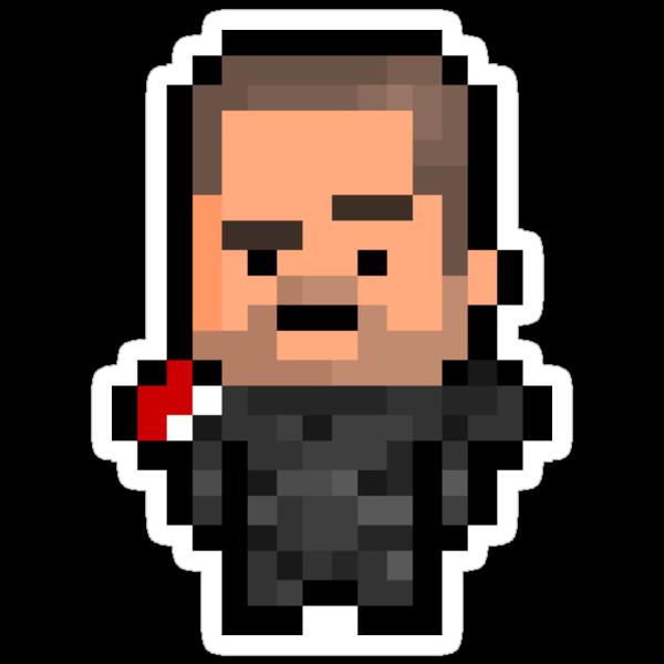 Pixel Commander Shepard (M) Sticker by PixelBlock
