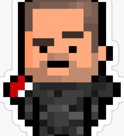 Pixel Commander Shepard (M) Sticker Sticker