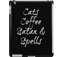 Cats, Coffee, Satan and Spells iPad Case/Skin