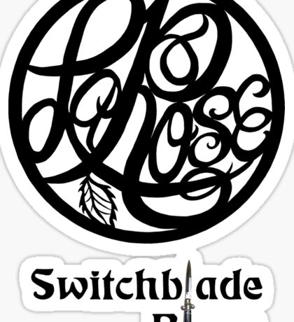 Switchblade Blues Sticker or Light Colored Tee Sticker