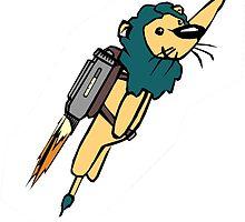 Rocket Lion by pondripple
