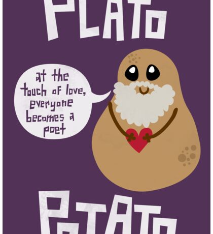 Plato Potato {Sticker} Sticker