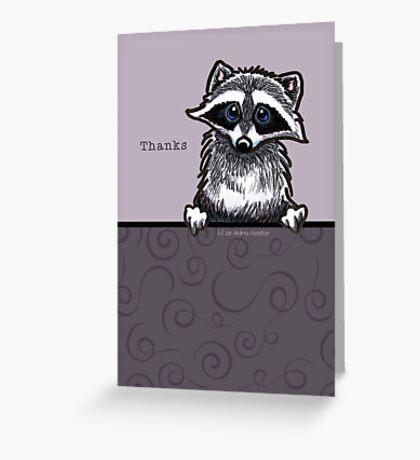 Raccoon Cute Thank You Card Greeting Card