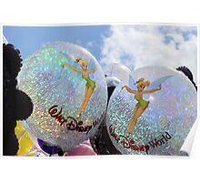 Tinkerbell Balloons Poster