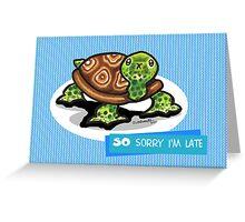 Turtle Belated Birthday Card Greeting Card