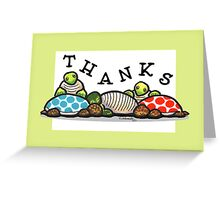Island Turtles Thank You Card Greeting Card