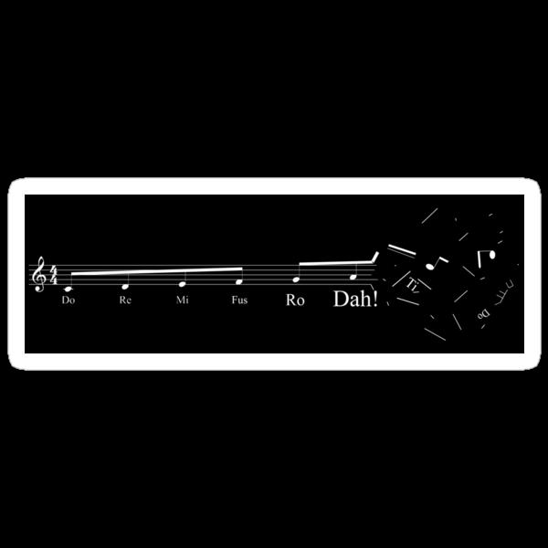 Fus Ro Dah dark sticker by AngryMongo
