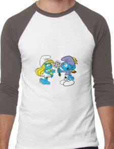 smurf_flower Men's Baseball ¾ T-Shirt