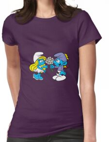 smurf_flower Womens Fitted T-Shirt