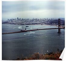 U.S.S. Nimitz - 75th Anniversary of the Golden Gate Bridge Poster