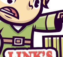 Link's gardening service Sticker