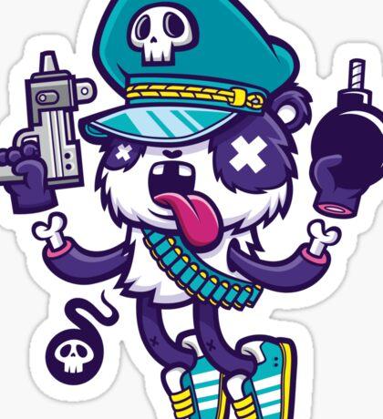 Panda Warrior Sticker