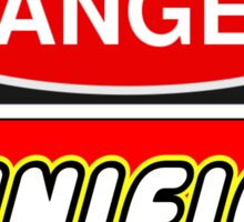 Danger Minifigs Sign Sticker