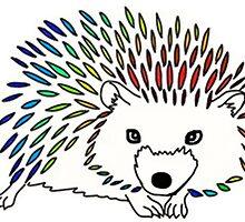 Rainbow Hedgehog Design by ouiouiouwha
