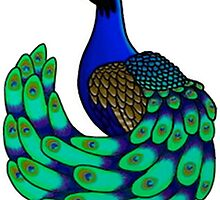 Colored Peacock Design by ouiouiouwha