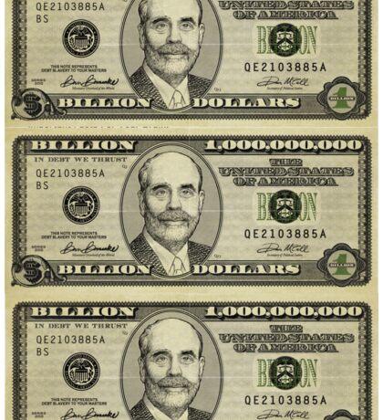 Ben Bernanke Billions Stickers Sticker