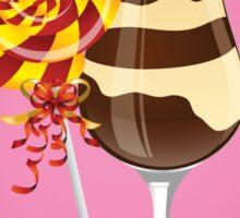 Lollipop Candy and Ice-cream sundae party Sticker Sticker