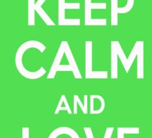 Keep Calm and Love Cats (Green) Sticker