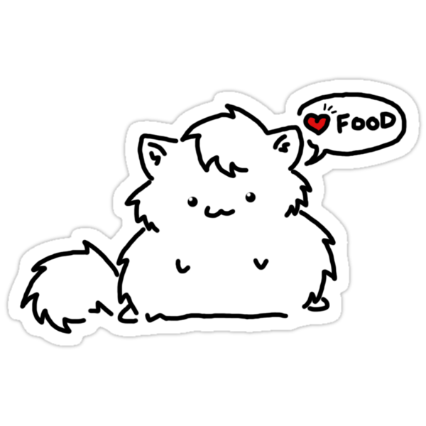 Fat Kitty Mroo Loves Food! by Mroo
