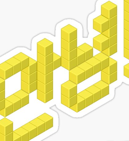 8-bit Annyeong! (Yellow Sticker) Sticker