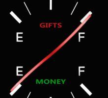 Christmas gift gauge Sticker