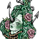 Severed Anchor Head (Green) by Creep Heart