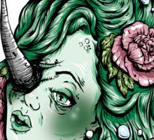 Severed Anchor Head (Green) Sticker