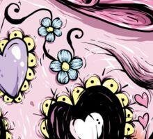 Pink Sugar Skull Sticker