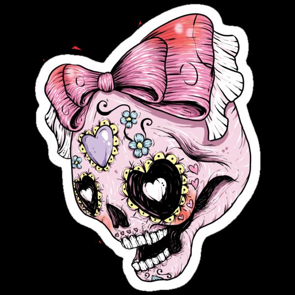 Pink Sugar Skull by Creep Heart