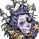 Severed Anchor Head (Purple) by Creep Heart