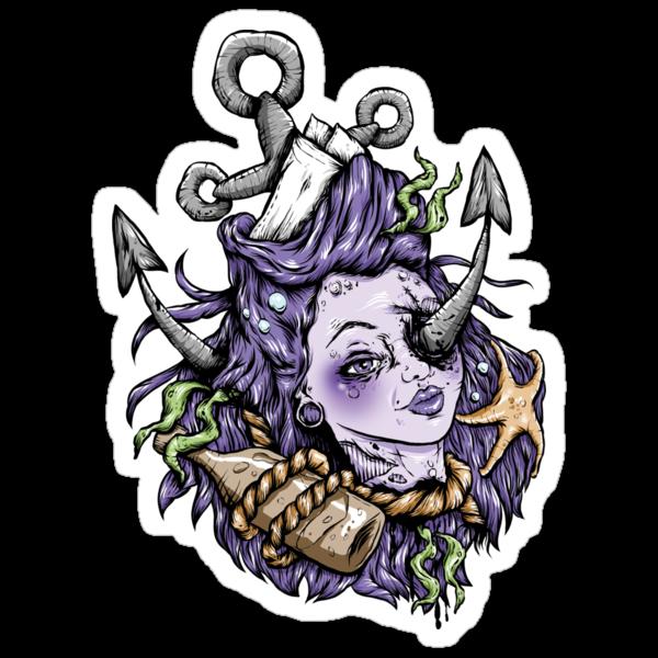 Severed Anchor Head (Purple) by Creep Heart