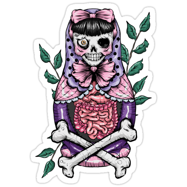 Zombie Russian Doll by Creep Heart