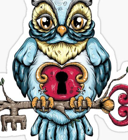 Owl With Key Sticker