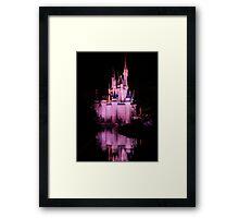 Cinderella's Castle - Pink w/reflection Framed Print