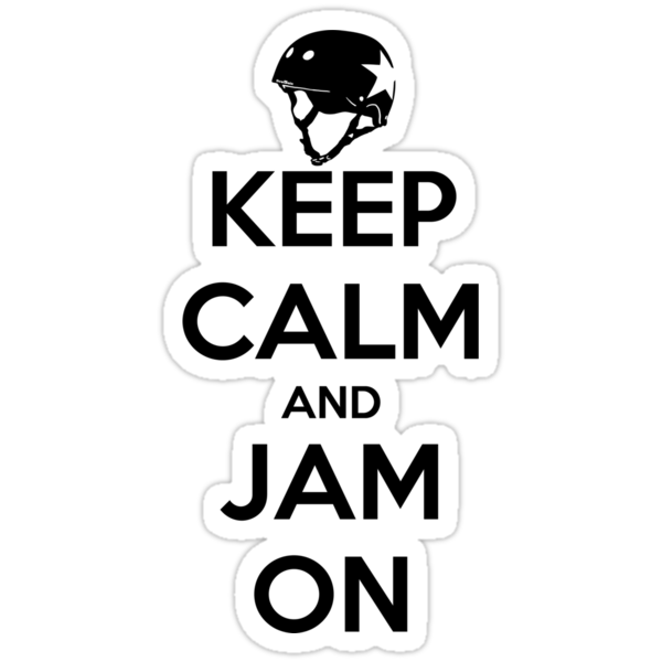 Keep Calm and Jam On Decal by Scott Harrison