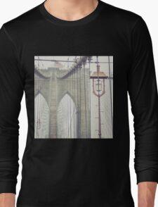Brooklyn Bridge Summer Rain Long Sleeve T-Shirt