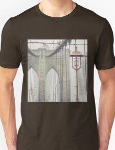 Brooklyn Bridge Summer Rain Unisex T-Shirt