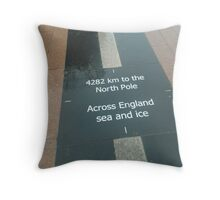 4282km to the North Pole (Nokia Collection) Throw Pillow