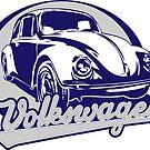 Volkswagen Beetle Sticker by KombiNation