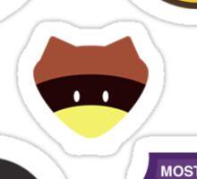 Moonrise Kingdom Patches Sticker Set (2) Sticker