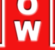 TOW red sticker Sticker